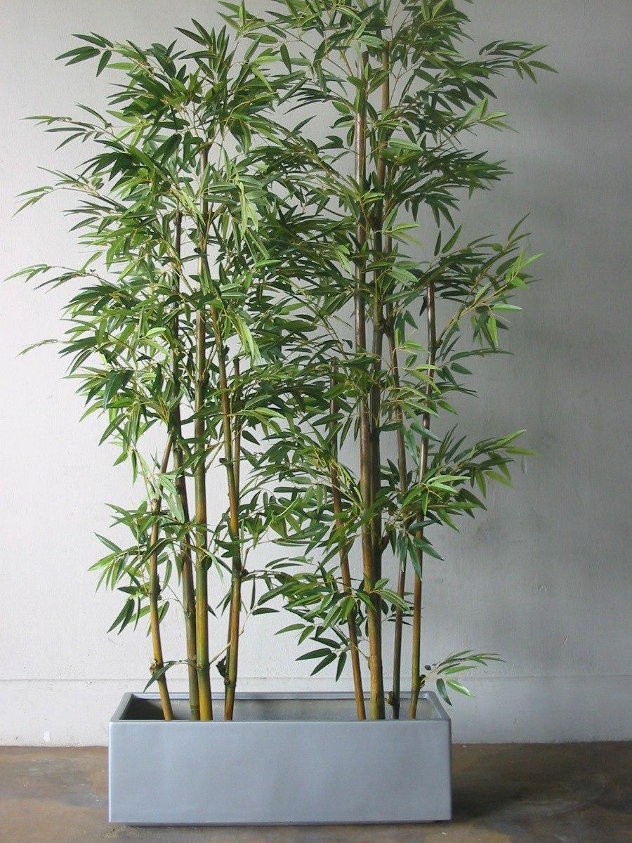 Bambu artificial planta maceta jardinera bamboo plantas arti 1 en mercado libre - Jardineras con bambu ...