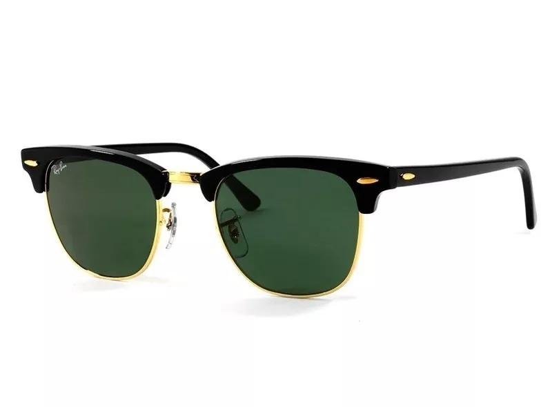 0773860aa39cf Óculos Ray Ban Clubmaster Preto Rb3016 Original Lente G-15 - R  500 ...