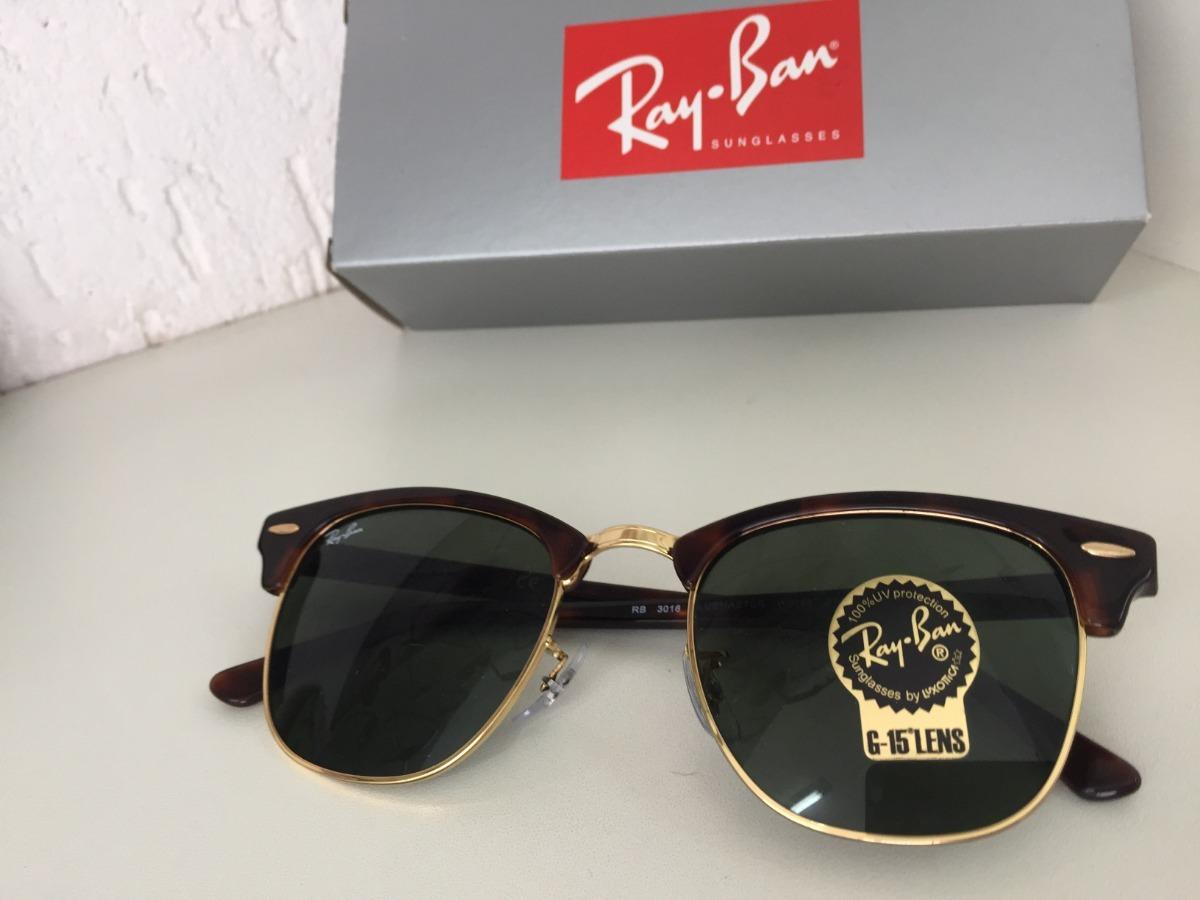 d21e474aa3462 Óculos Ray Ban Clubmaster Havana Tartaruga Original G-15 - R  500