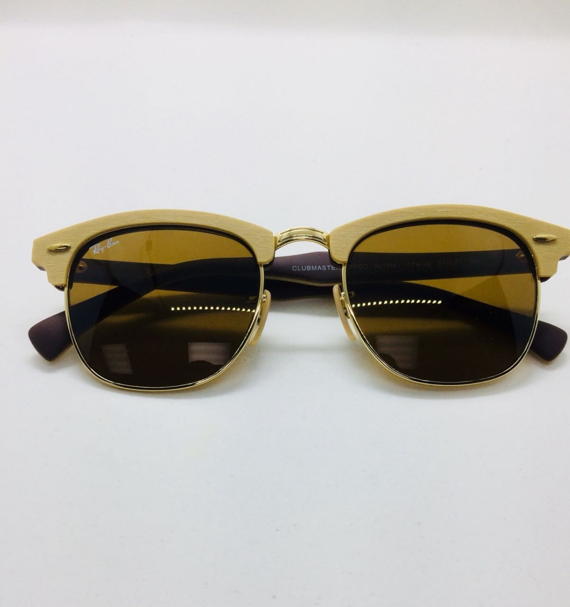Ray Ban Clubmaster Rb 3016 Original Madeira Wood Marrom - R  210,00 ... a747ee7626