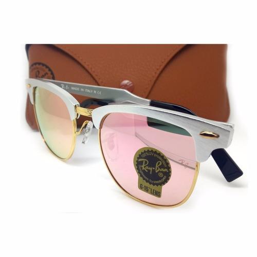 ban clubmaster ray. Carregando zoom... ray ban clubmaster rosa aluminium  rb3507 ... c8175ff33d