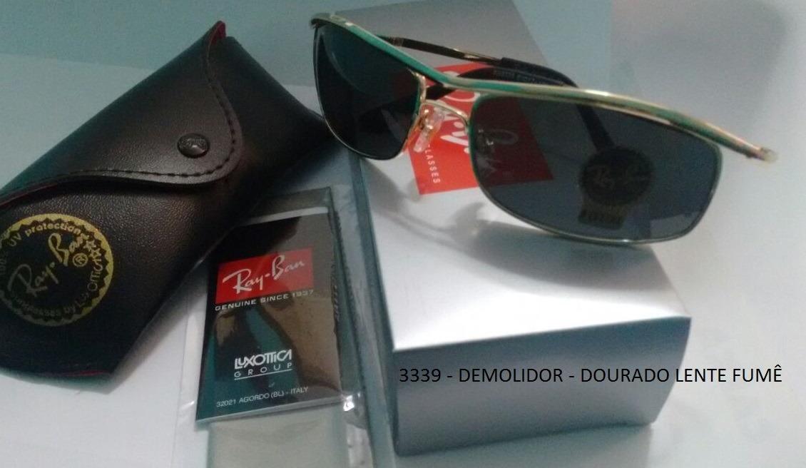 c5165c7322d72 Oculos Ray Ban 3339 Demolidor Dourado Lente Fumê - R  197