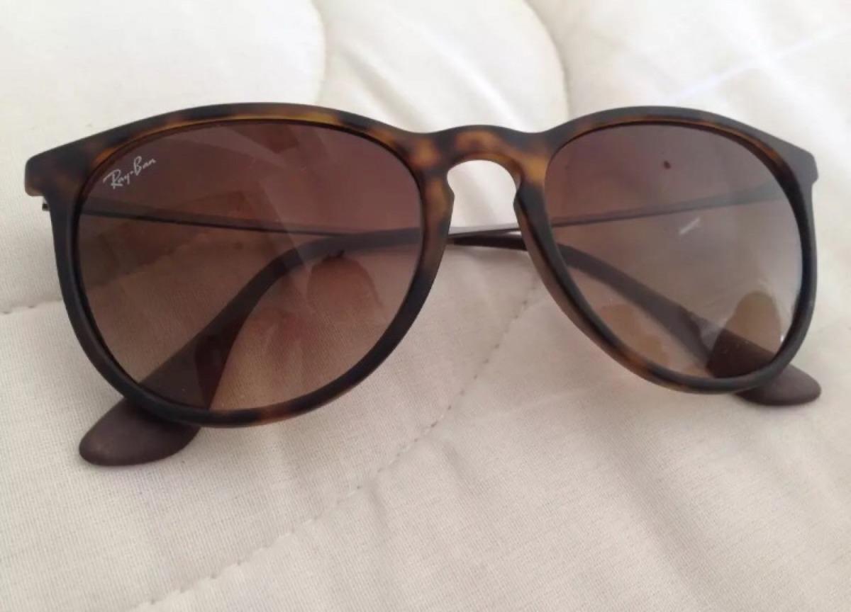 98d9124cfec83 Óculos Ray Ban Erika Tartaruga Fosco Lente Degradê - R  169