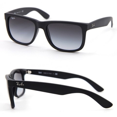98bc722d93195 Ray Ban Justin Preto Rb4165l 601 8g 55-16 55 Rb 4165 Rb4165 - R  359 ...