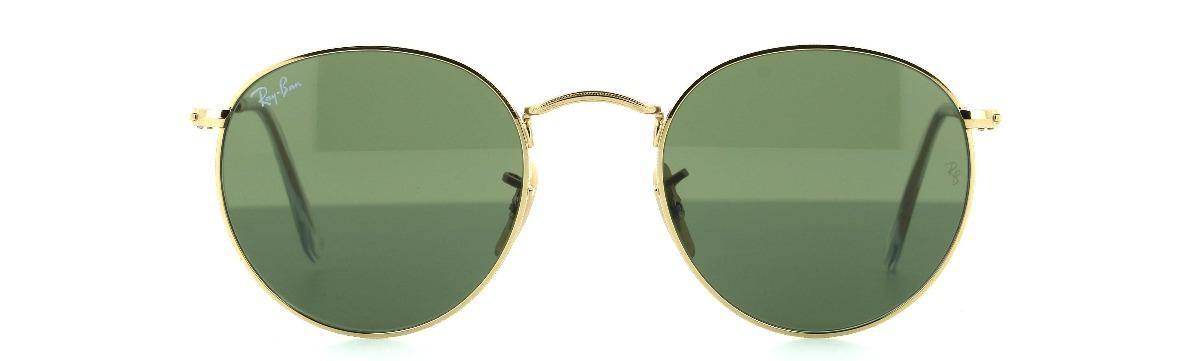 0ee760fde67d2 Carregando zoom... óculos ray- ban round metal rb3447 001 - lente g15