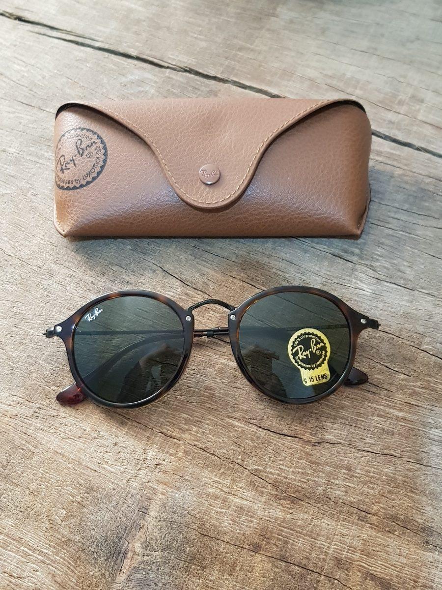Carregando zoom... óculos ray ban round fleck tartaruga g15 verde original  2447 55f315d71c