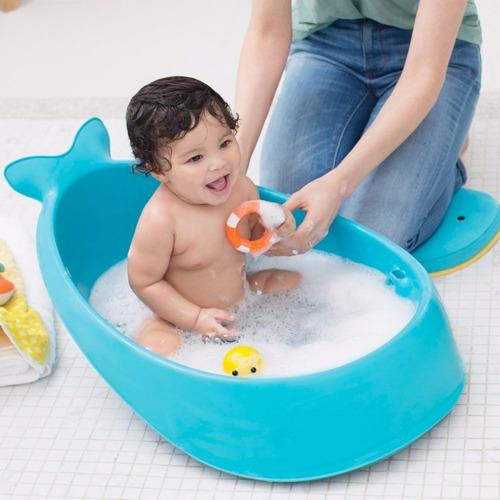 bañadera bebé skip hop con adaptador y gancho para colgar