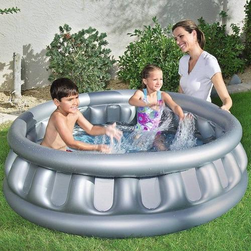 bañadera inflable pileta infantil bebes nave espacial oferta