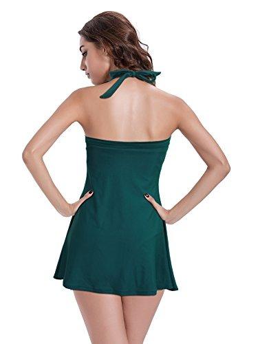 diseño atemporal 6c3b5 e5956 Banadores Reteron Push Up Falda De Rayas De La Mujer Banador