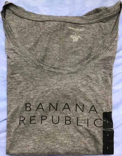 banana republic blusa estampada cuello red 100% orig talla l