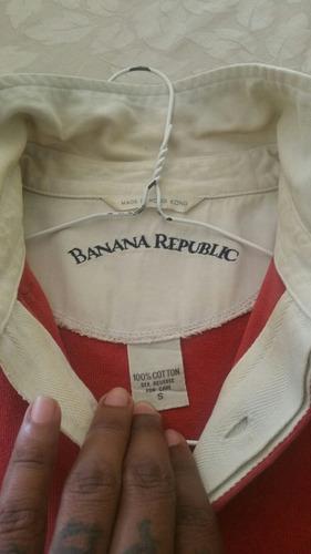 banana republic chemise manga larga retro 90s