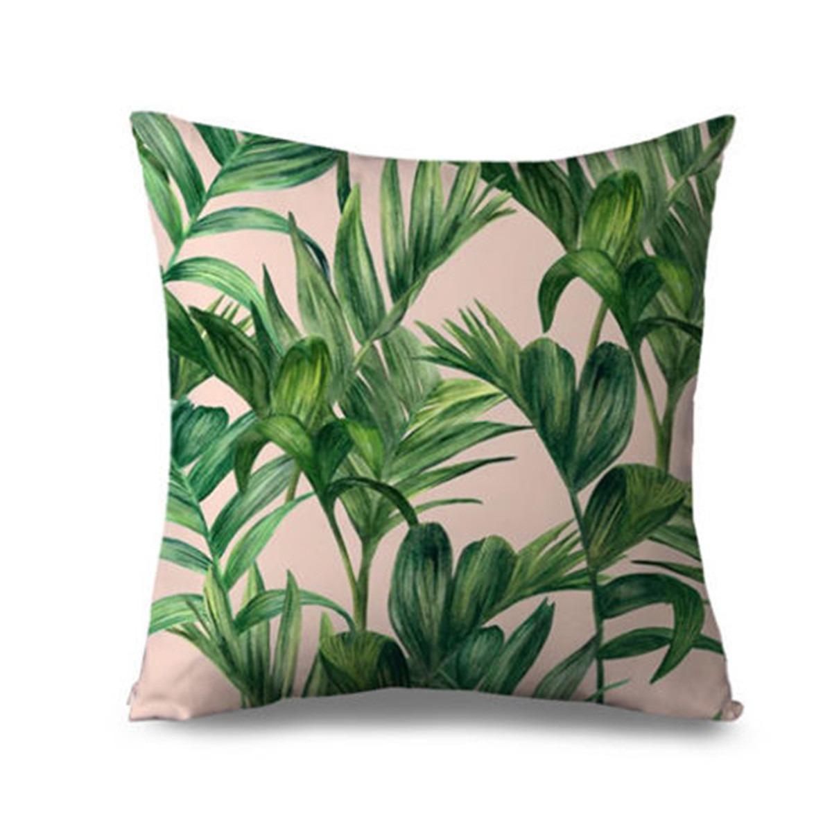 Banana Tropical Hojas Verdes Coj N De Lino Palm 17 990 En  # Muebles Hoja De Banano