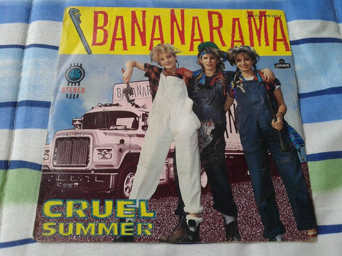 bananarama compacto cruel summer/summer dub 45 rpm holandês