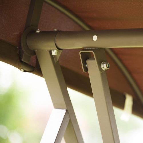 banca columpio 3 asientos jardin con marco de acero