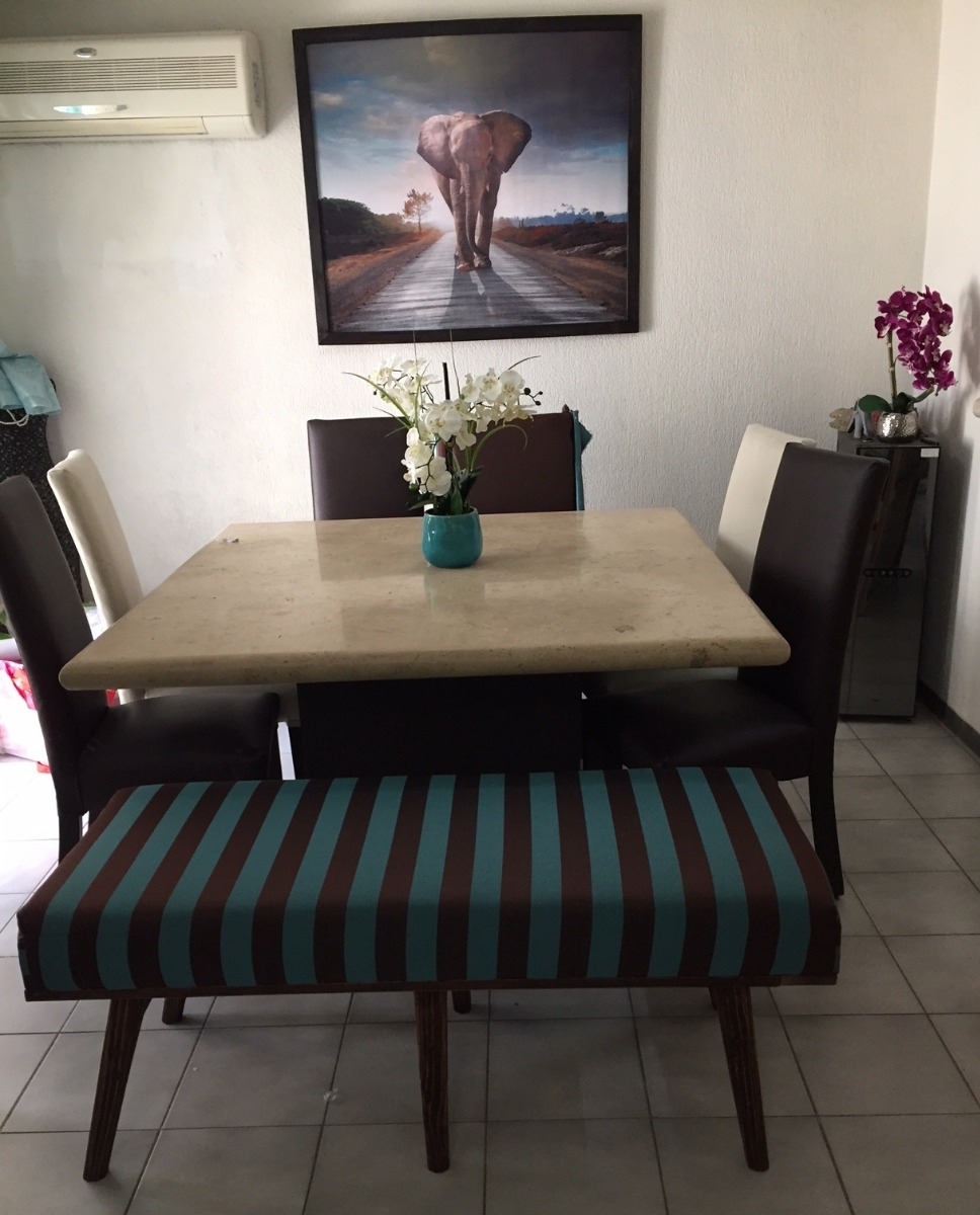 Banca comedor banco sala silla sillon tela de lujo a - Bancos para comedor ...