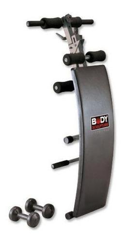 banca curva para abdominales body sculpture mancrns 1,5k 510