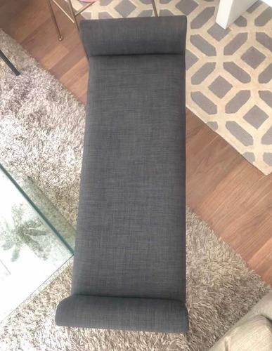 banca de madera con tela de muebles pergo, nota original