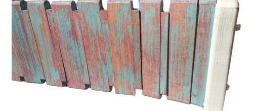 banca de madera plegable pino casa jardín acabado vintage