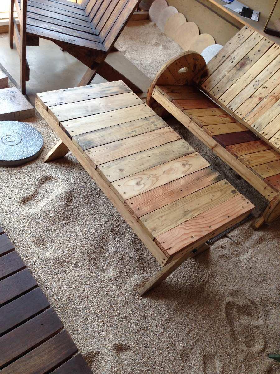 Banca de madera reciclada 2 personas en mercado for Diseno de muebles con madera reciclada
