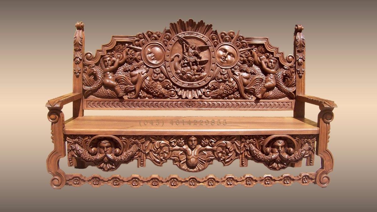 Banca de madera tallada a mano precio de fabricante - Muebles de valencia fabricantes ...