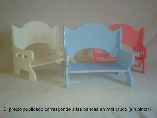 banca decorativa adorno juguete exhibidor manualidades