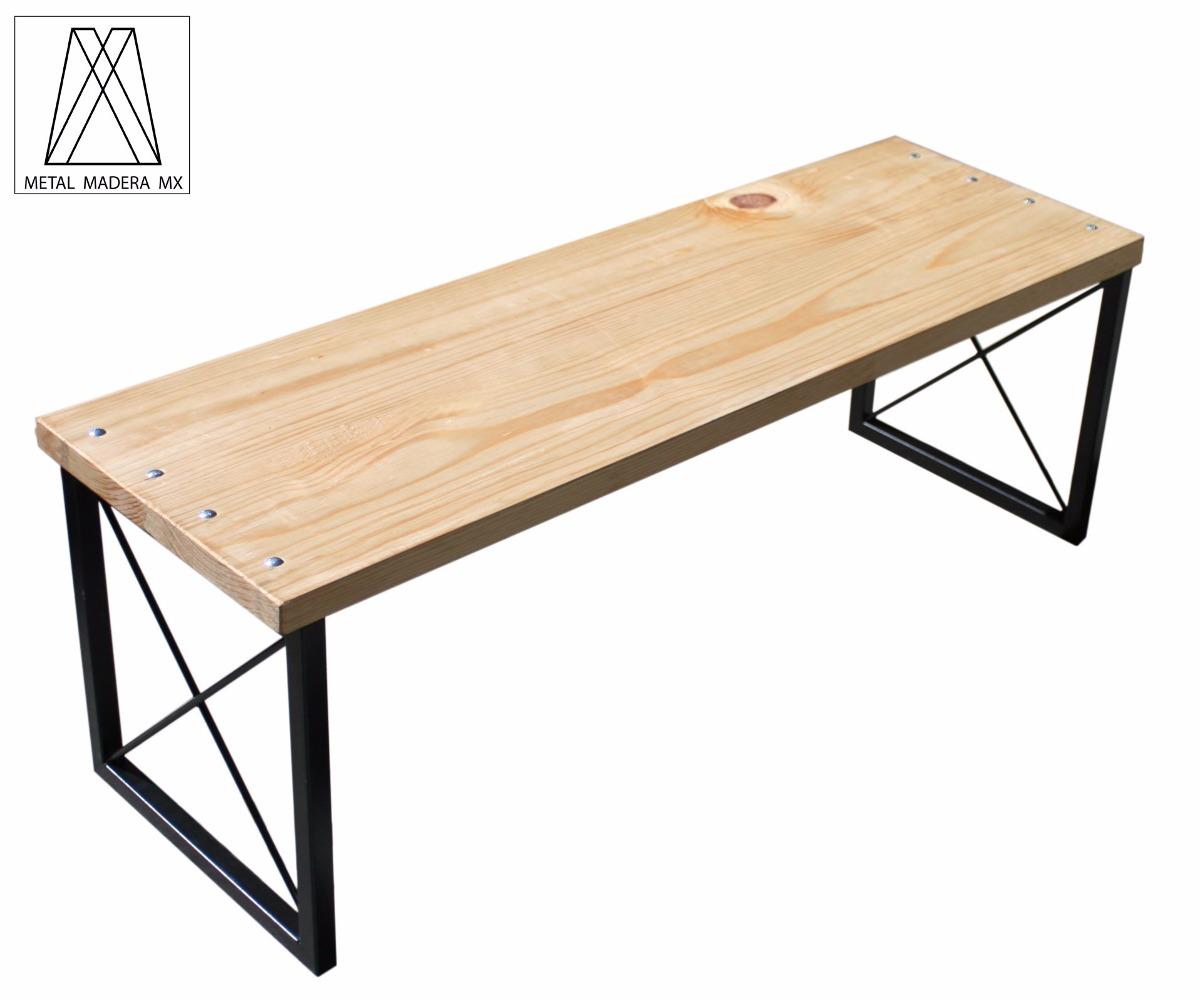 Banca dise o comedor mesa minimalista moderna madera 1 en mercado libre - Bancas de madera para comedor ...