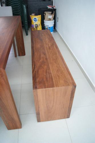 banca en madera para comedor chakmool