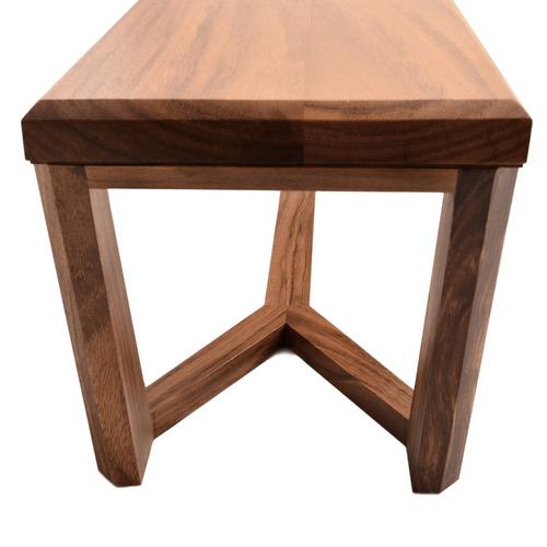 banca en madera solida modelo quadra, envió gratis