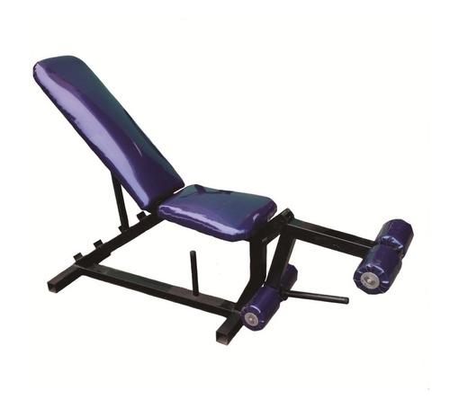banca libre para pecho reclinable con ejercitador de pierna