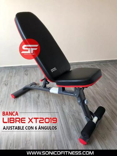banca libre pecho xt2019 olimpica 6 angulos profesional gym