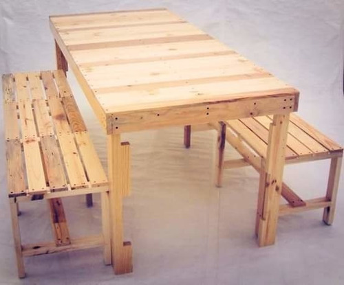 banca madera tarima sustentable