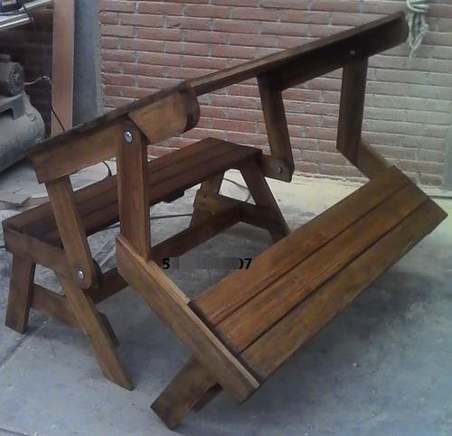 banca-mesa para jardín o negocio
