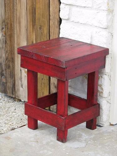 banca more 36x36x45 madera reciclada pantano pallet taburete