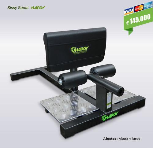 banca para sentadillas sissy hardy ajustable cuadríceps