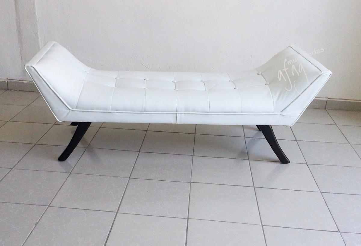 Banca pie de cama blanco nieve sillon love seat taburete for Taburete pie de cama
