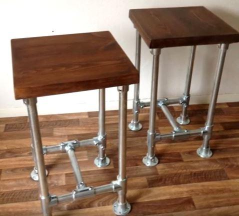 Banca Taburete Muebles Estilo Industrial Vintage Bs 507817960
