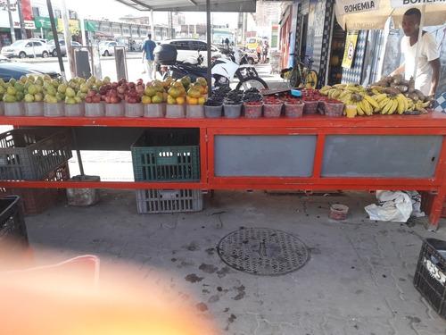 bancada de frutas nova 4 metros de comprimentos p80 largura