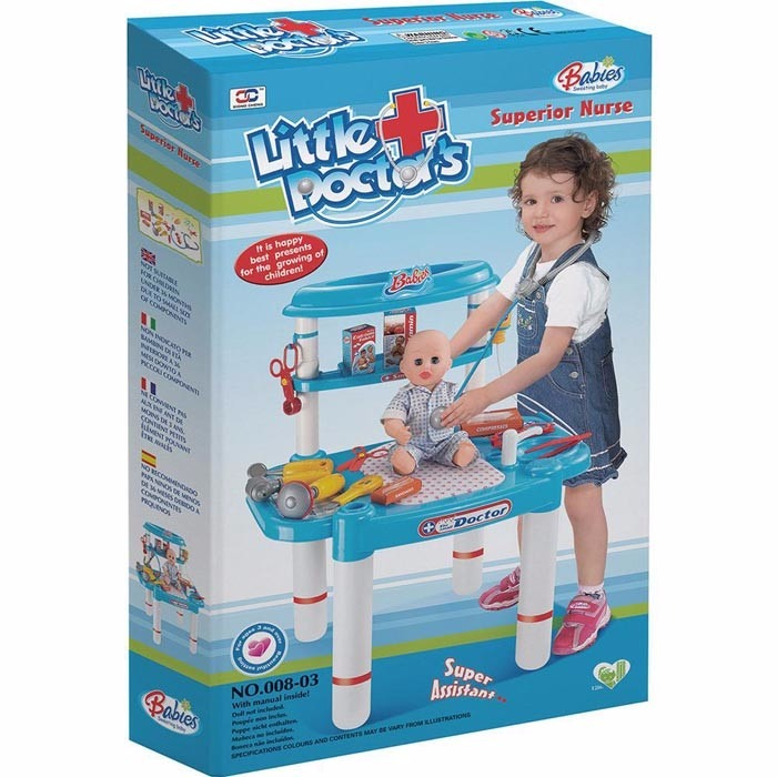 Bancada De Medico Kit Infantil Brinquedo Doutora Brinquedos R