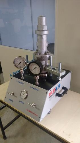 bancada de teste de válvulas de segurança e alívio