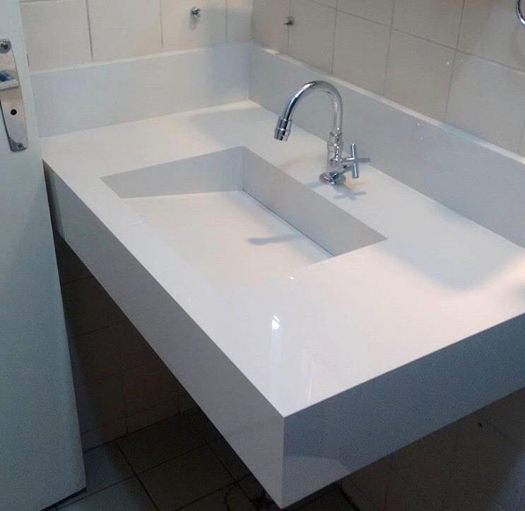 Kit Para Bancada De Banheiro Em Porcelana : Bancada em porcelanato com cuba esculpida r