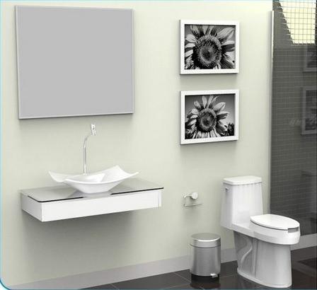 bancada / gabinete / lavabo banheiro madri 80