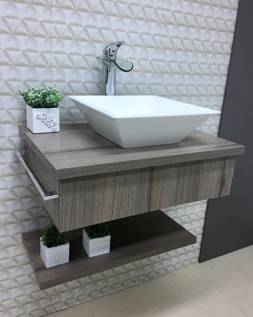 Bancada gabinete real p banheiro lavabo c cuba apoio for Gabinete para lavabo