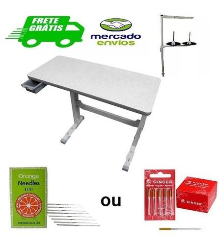 bancada tampo mesa para máquina de costura doméstica lisa