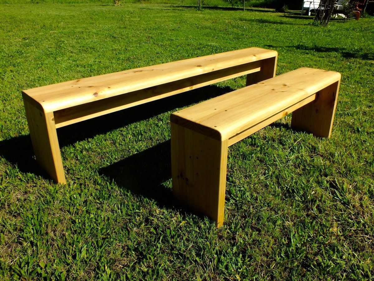 Bancas de madera a pedido en mercado libre for Bancas para jardin de madera