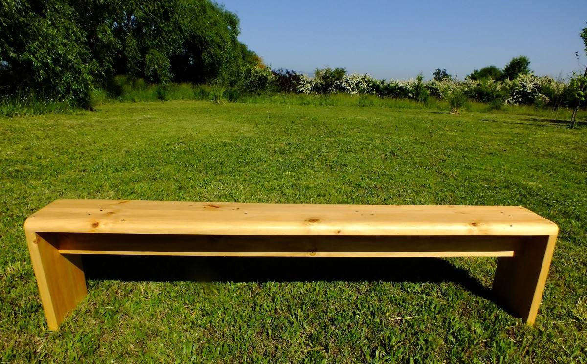 Bancas de madera a pedido en mercado libre for Bancas de madera para jardin