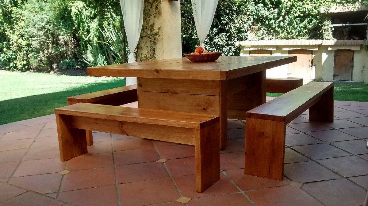 Bancas de madera a pedido terraza departamentos 60 - Madera para terraza ...