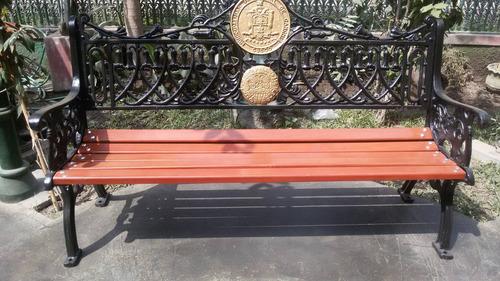 bancas postes piletas ornamentales en fierro fundido, bronce