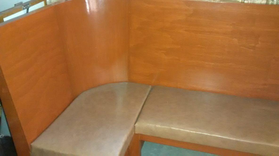 Bancas mobiliario de madera para cafeteria sala oficina - Mobiliario de cafeteria ...