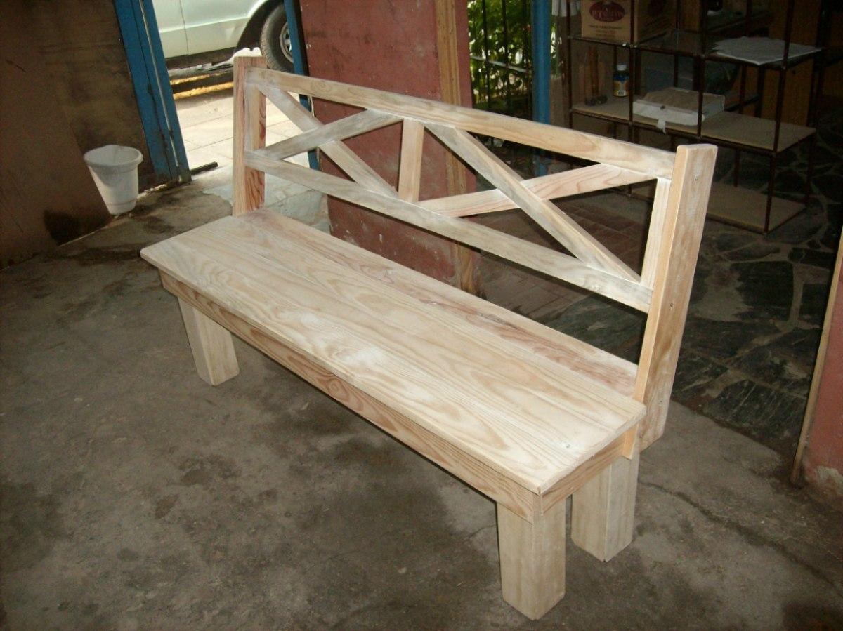 Como hacer un banco de madera con esto habremos culminado - Banco de madera ...