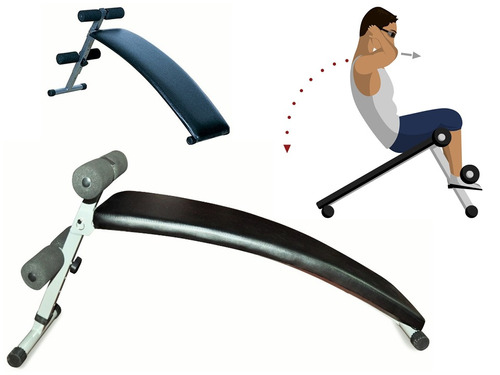 banco abdominal multiposición tonifica piernas brazo-pesas